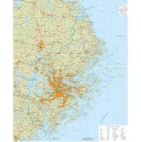 Stockholms Län 1:150 000, 100x139cm