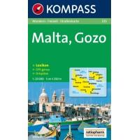 235 Malta Kompass Wanderkarte