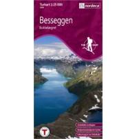 Besseggen med Bukkelaegret Turkart