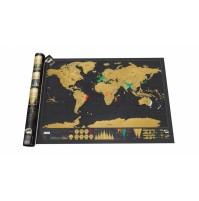 Scratch Map Deluxe Världskarta