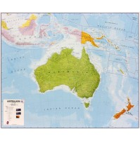 Australasien Maps International 1:7milj POL 120x100cm