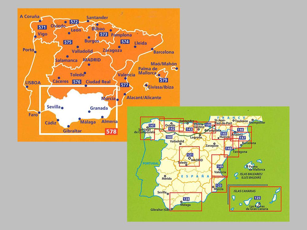 Karta Nordostra Spanien.Kop Delkartor Michelin Med Snabb Leverans Kartbutiken Se