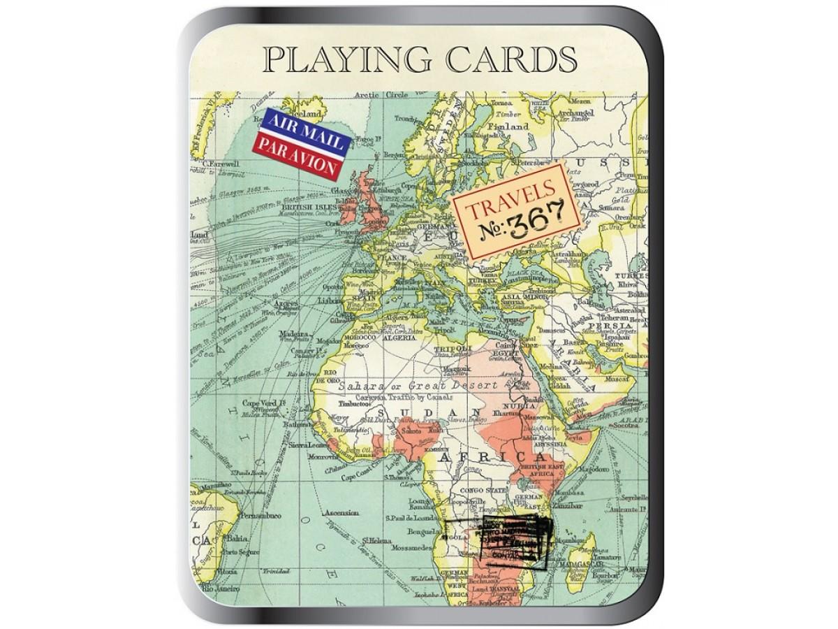 Spelkort med kartmotiv