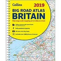 Big Road Atlas Storbritannien Collins 2019