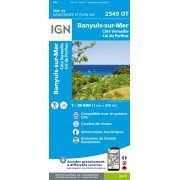 Banyuls Col de Perthus  Côte Vermeille 2549OT Top25 IGN