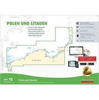 Polen och Litauen båtsportkort Satz 13