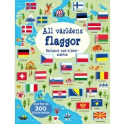 All världens flaggor : faktabok med klistermärken