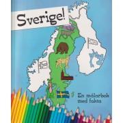 Sverige! : en målarbok med fakta
