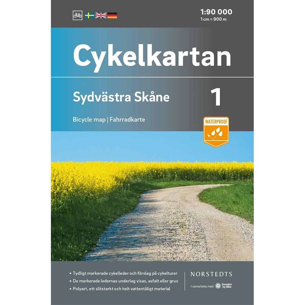 Cykelkartan 1 Sydvästra Skåne