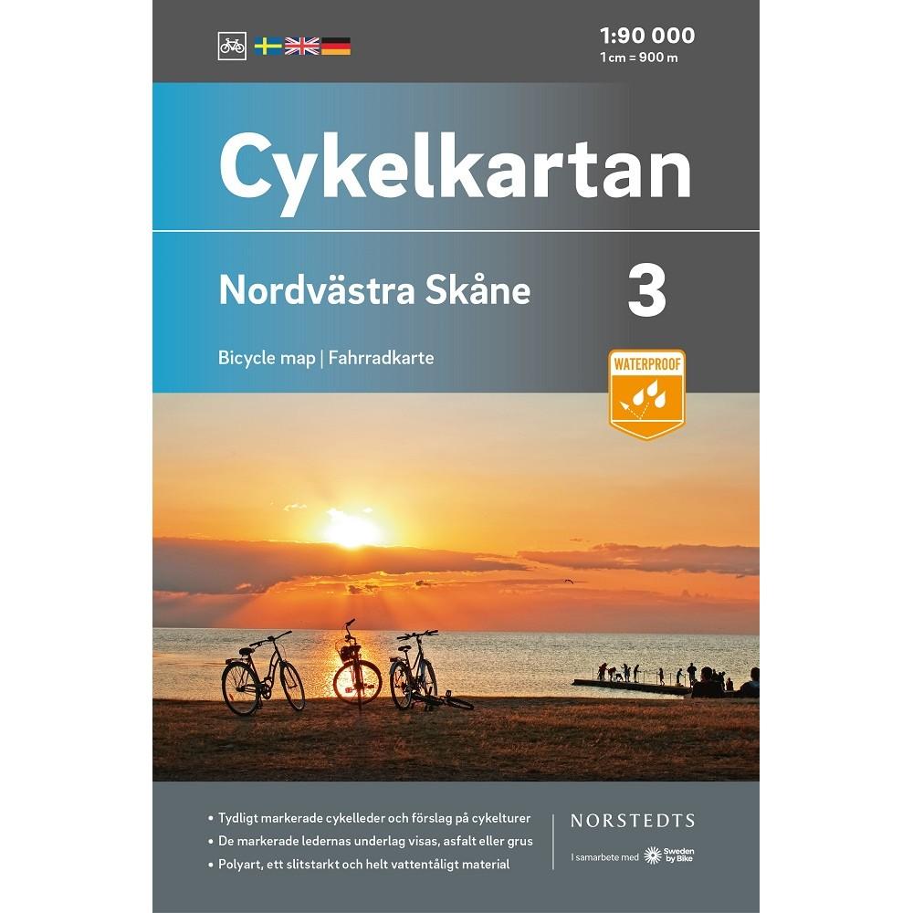 Cykelkartan 3 Nordvästra Skåne