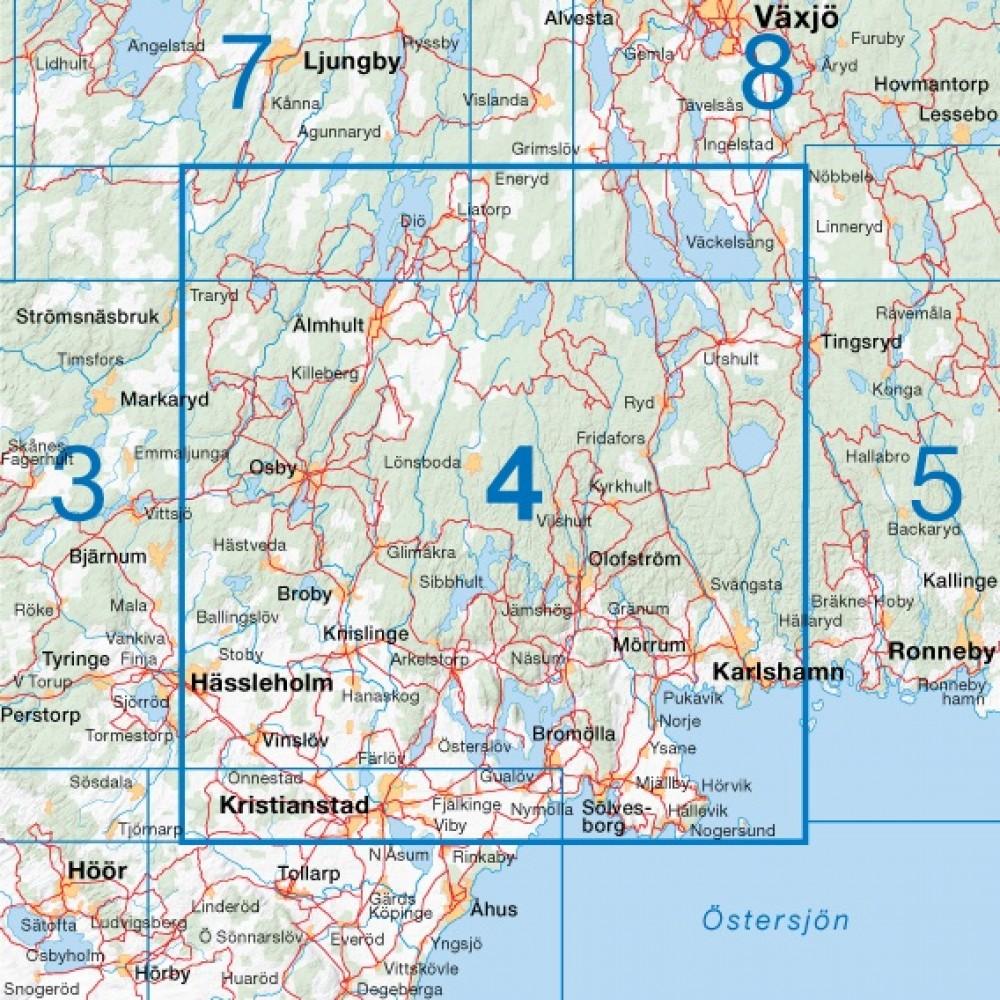 Cykelkartan 4 Nordöstra Skåne