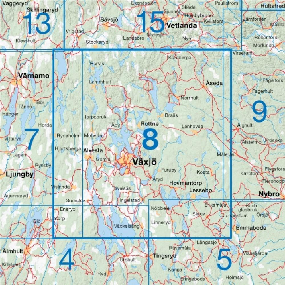 Cykelkartan 8 Sydöstra Småland