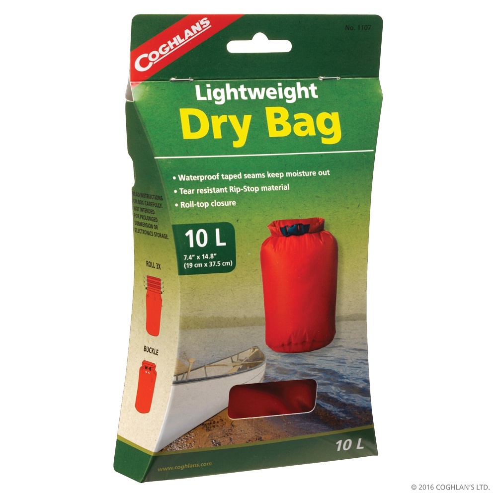 Vattentät väska / Dry bag 10L röd Coghlan´s