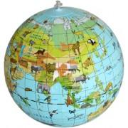 Uppblåsbar Jordglob med djur 30 cm