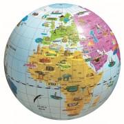 Uppblåsbar Jordglob med djur och landmärken 42 cm