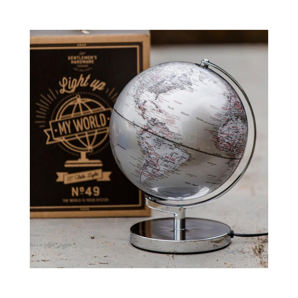 Jordglob Silver 25cm lampa