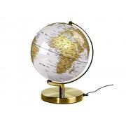 Jordglob Vit & Mässing lampa 25cm