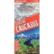 Georgien Caucasus Trekking Map