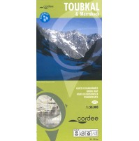 Toubkal & Marrakech Hiking map