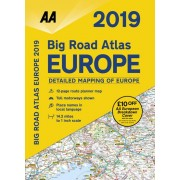 AA Big Road Atlas Europe 2019