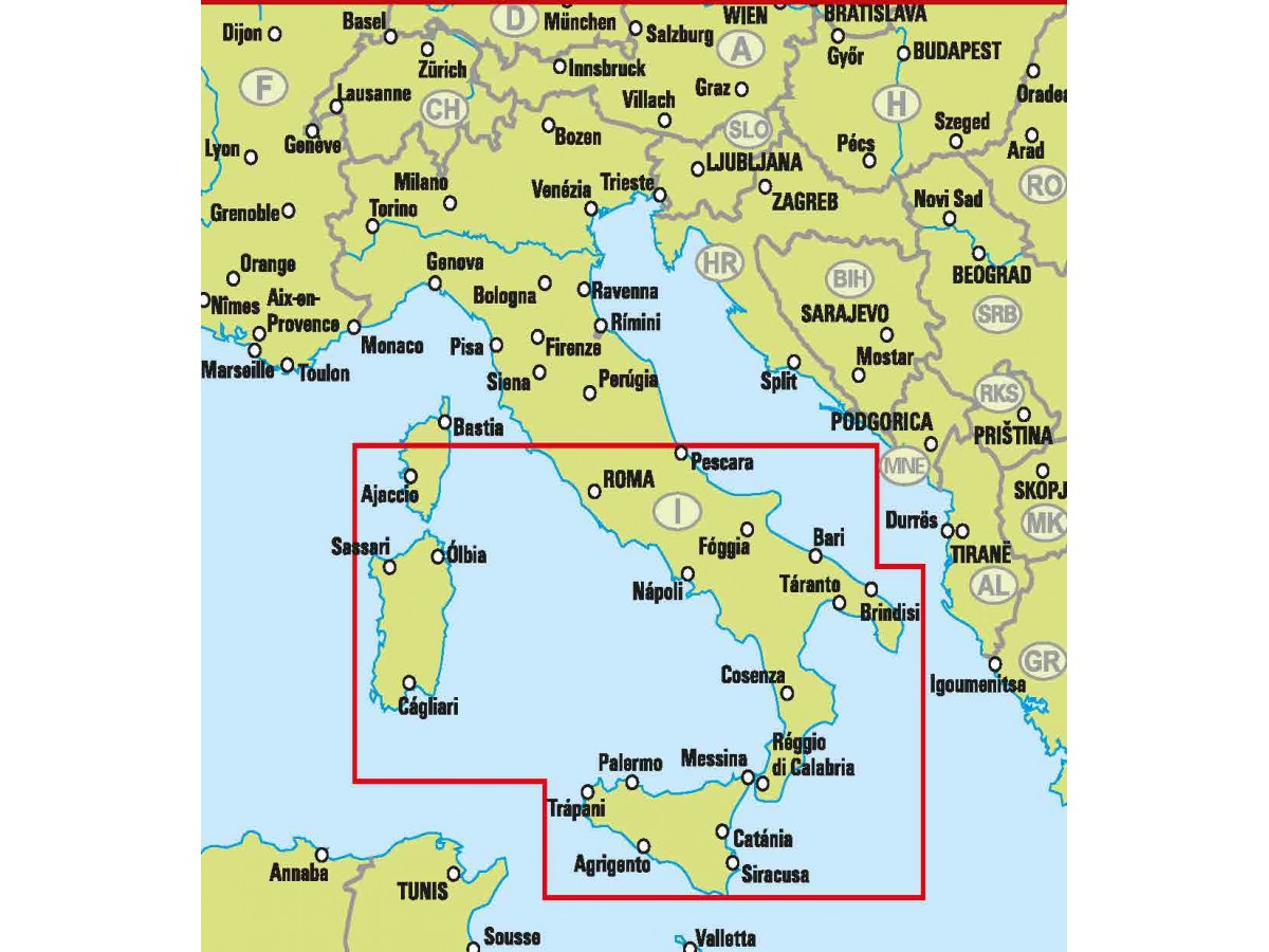 Karta Italien Regioner.Kop Sodra Italien Easymap Med Snabb Leverans Kartbutiken Se