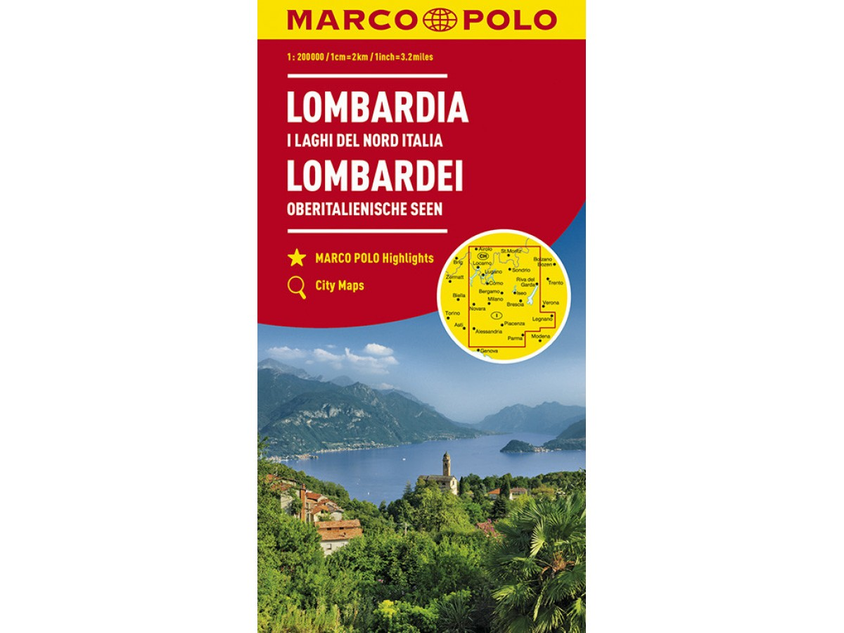 Karta Nord Italien.Kop Lombardia Marco Polo Italien Del 2 Med Snabb Leverans