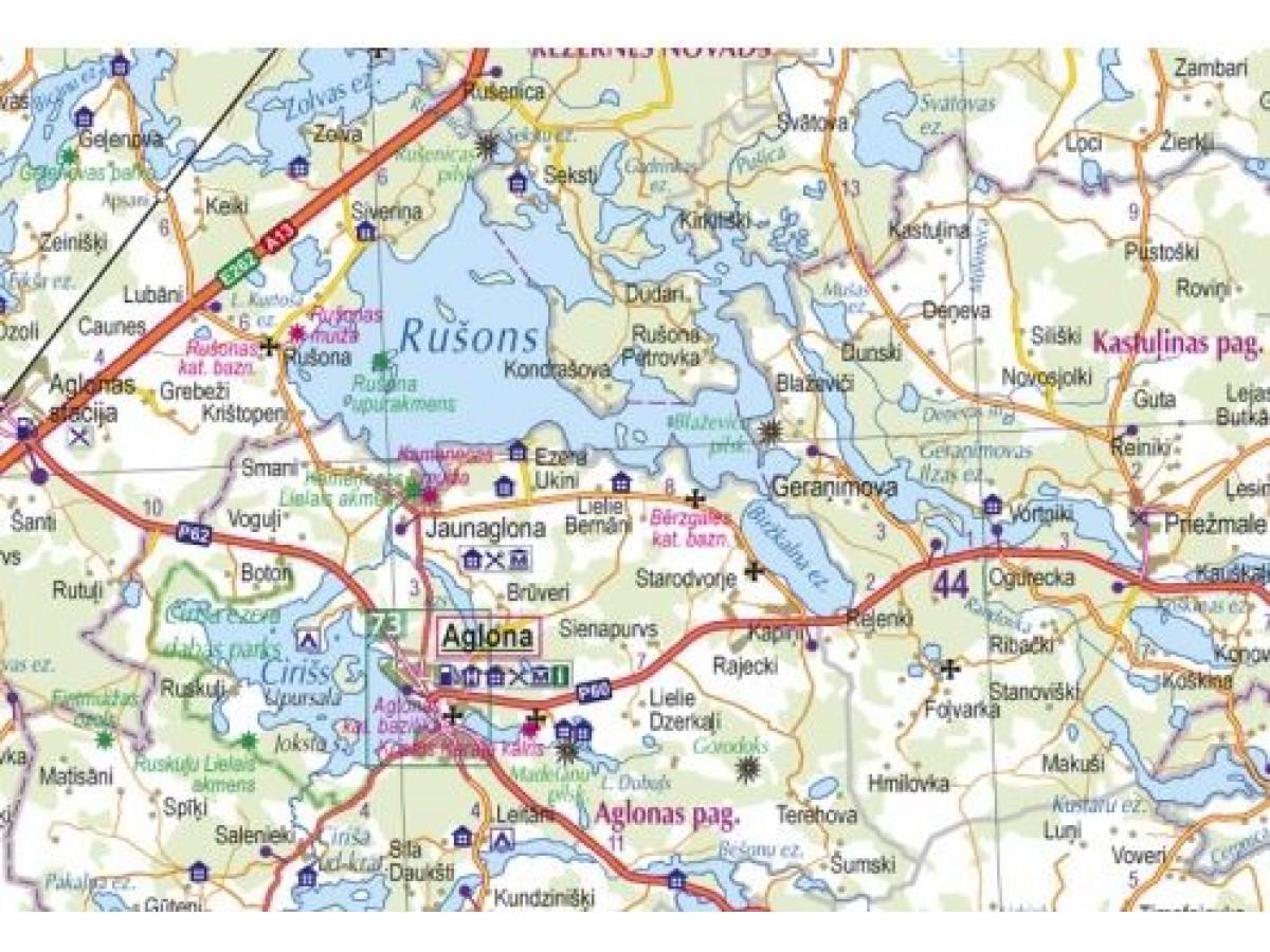 Lettland Karta Europa.Kop Lettland Vagatlas Jana Seta Med Snabb Leverans Kartbutiken Se
