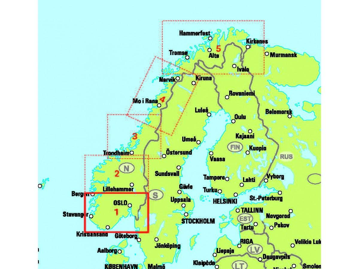 Karta Syd Norge.Kop Norge 1 Sodra Norge Syd Easymap Med Snabb Leverans Kartbutiken Se
