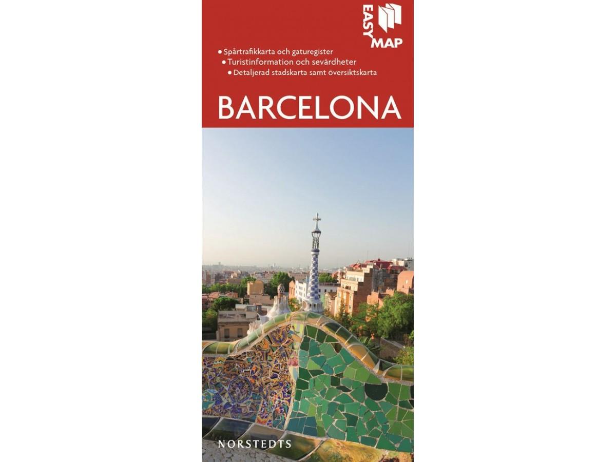 Karta Over Sevardheter I Barcelona.Kop Barcelona Easy Map Med Snabb Leverans Kartbutiken Se