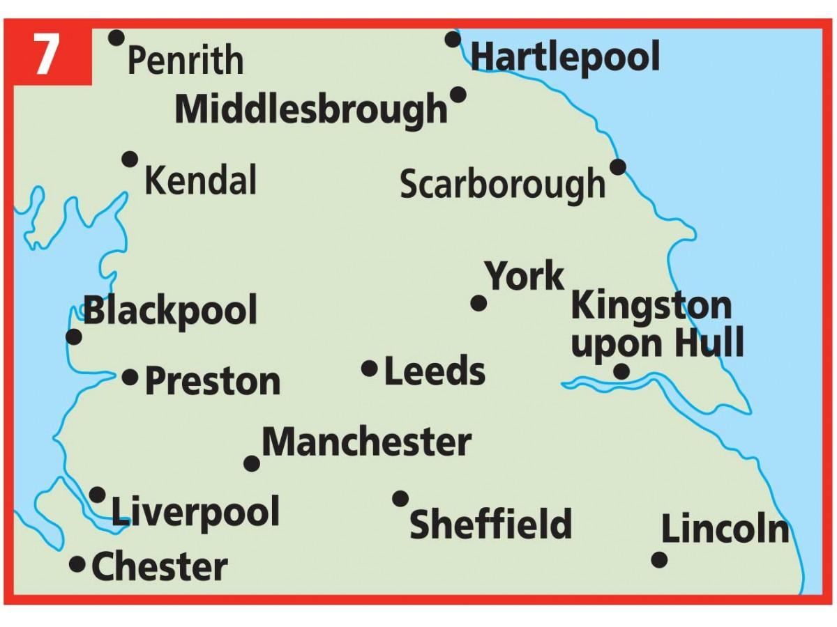 karta england manchester Köp AA 7 Norra England med snabb leverans   Kartbutiken.se karta england manchester