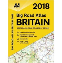 Storbritannien AA Big Road Atlas 2018