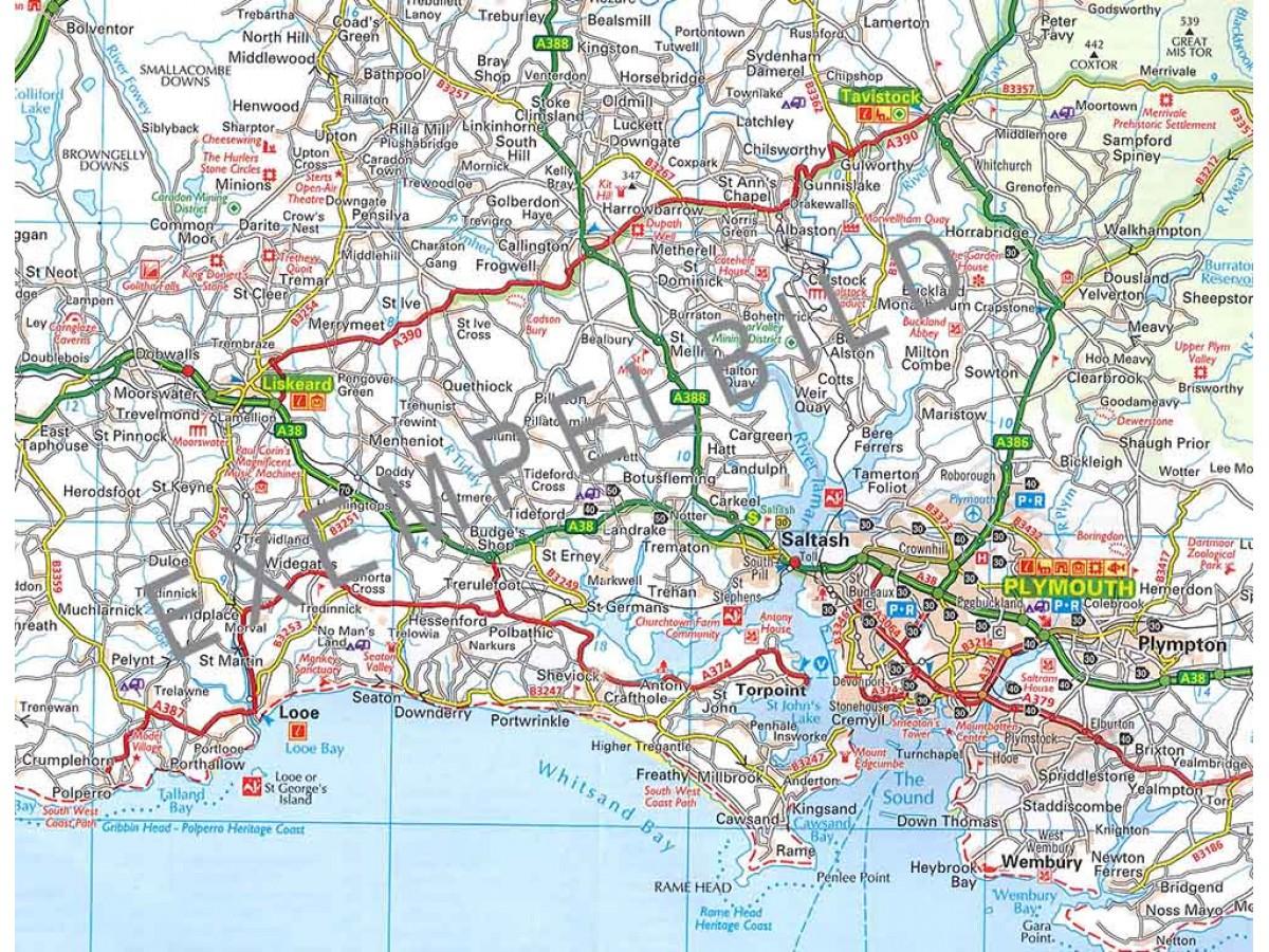 karta södra england Köp AA 2 Centrala, Södra England med snabb leverans   Kartbutiken.se karta södra england