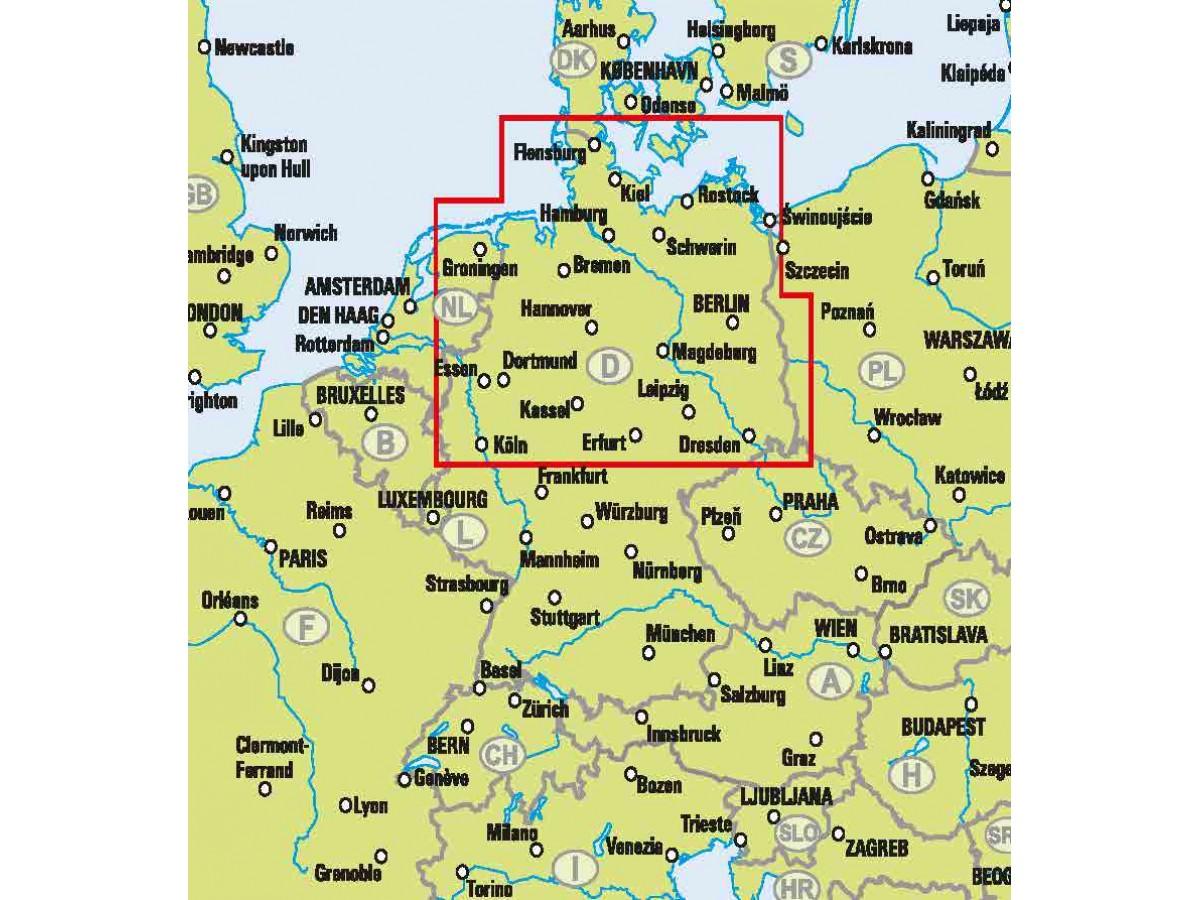 Kop Norra Tyskland Easymap Med Snabb Leverans Kartbutiken Se