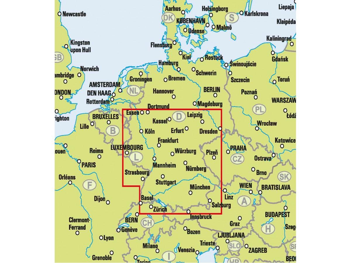 Kop Sodra Tyskland Easymap Med Snabb Leverans Kartbutiken Se