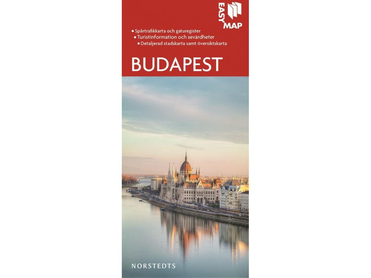 Karta Over Budapest Sevardheter.Kop Budapest Easy Map Med Snabb Leverans Kartbutiken Se