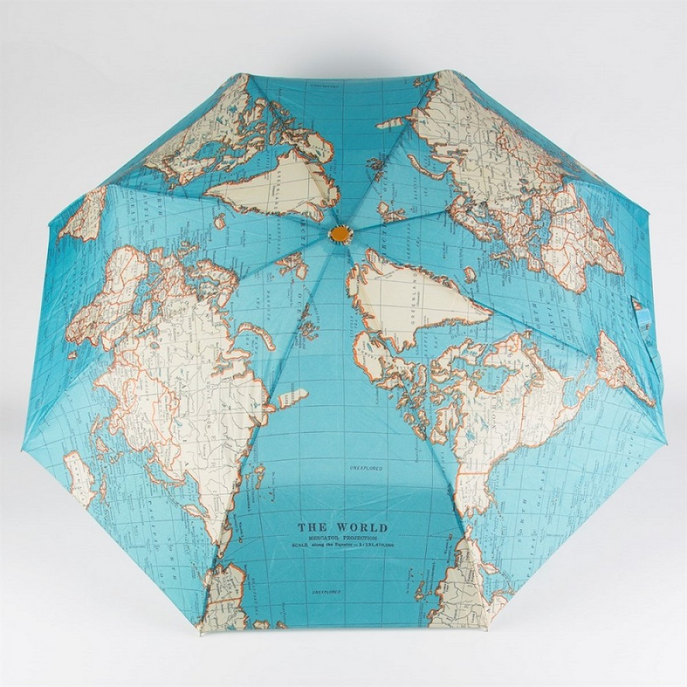 Paraply Vintage World Map