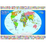 The world and its flags NGS Pussel 300 bitar