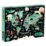 Map of the World Family Puzzle 1000 pc