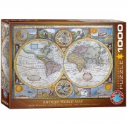 Antique World Map Pussel 1000 bitar