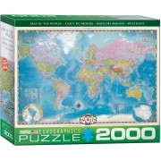 Map of the World Pussel 2000 bitar