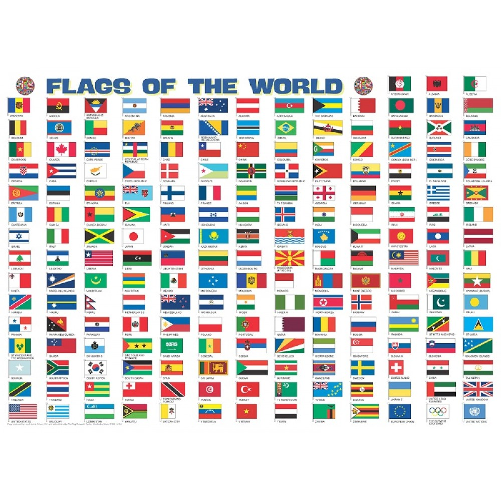 Flags of the World Magnetic Puzzle