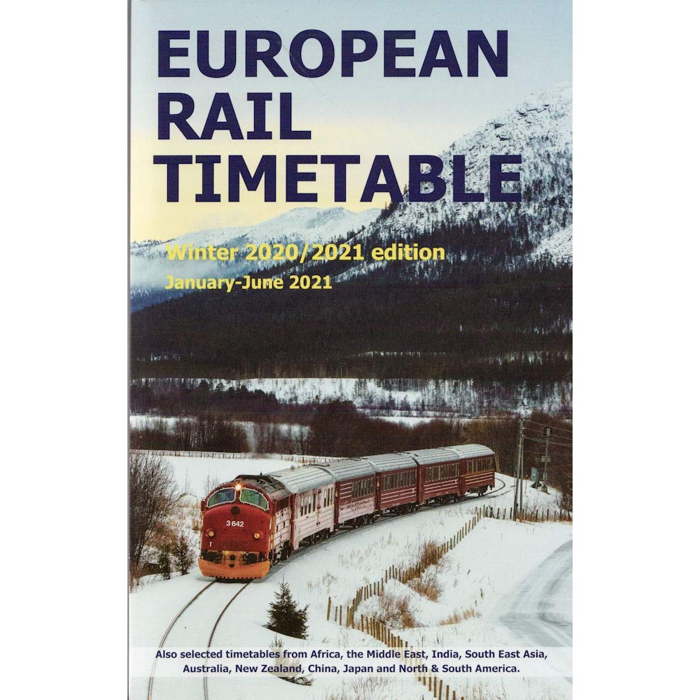 European Rail Timetable Winter 2021