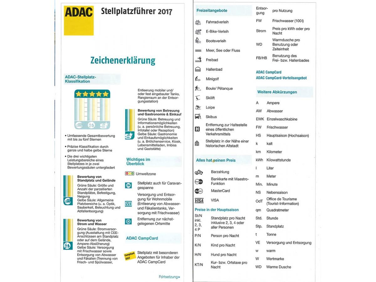 Stellplatzführer Europa 2019 ADAC
