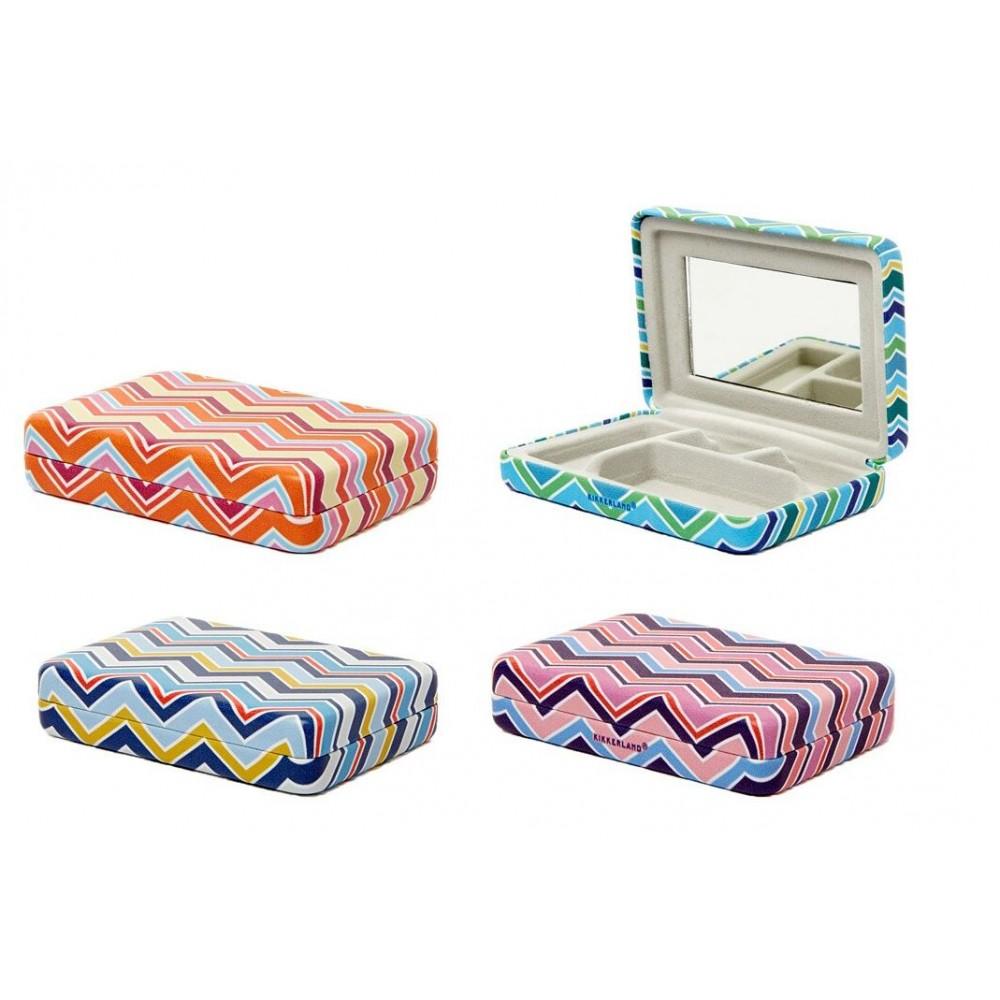 Travel Case - Portable Jewelry Striped