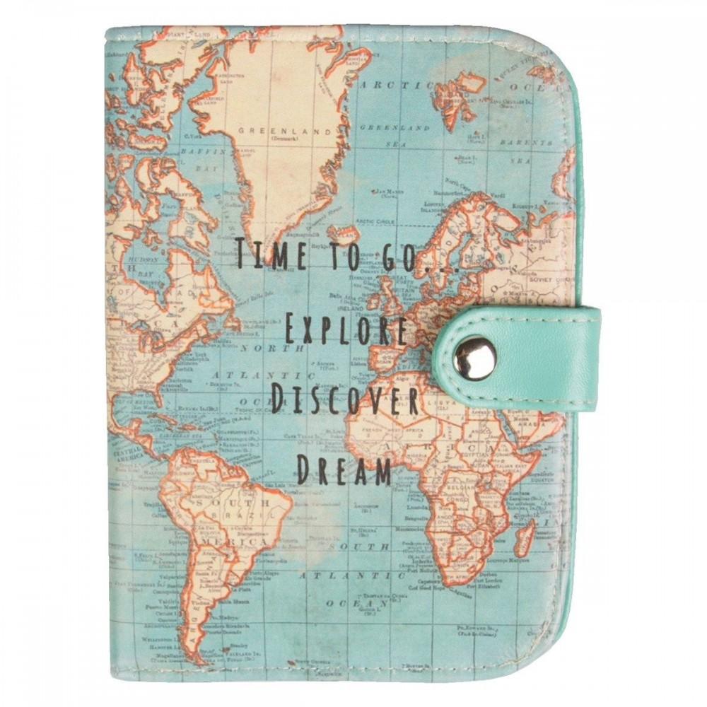 Passport holder Vintage Map Time