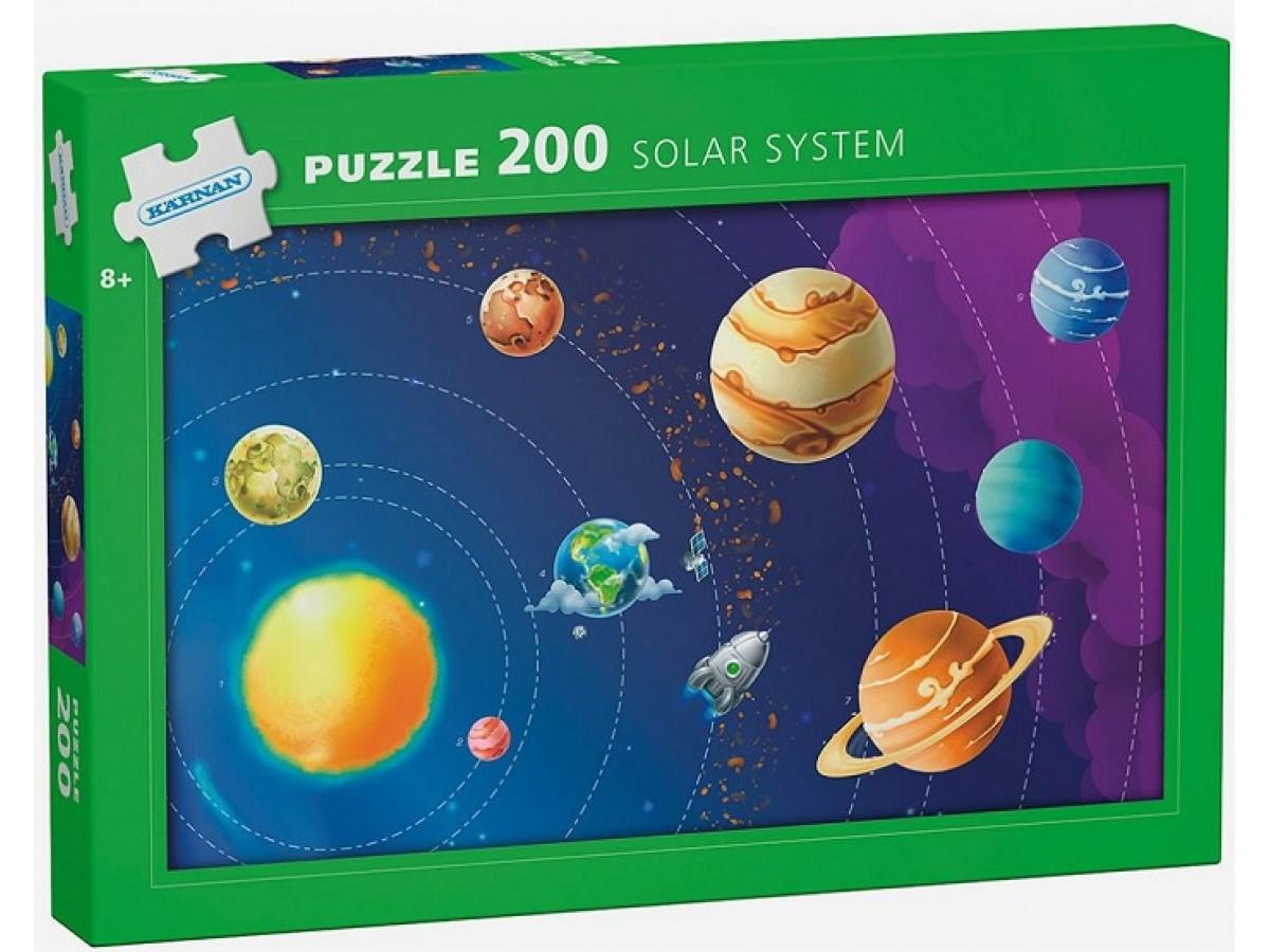 Solsystemet Pussel 200 bitar