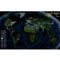 Earth at Night plansch NGS