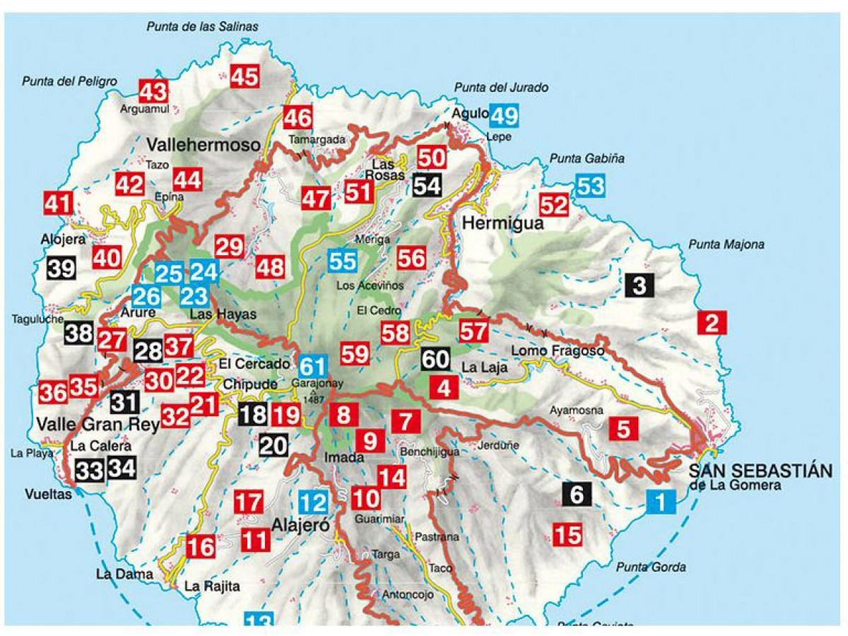 Kp La Gomera Rother walking guide med snabb leveranser Kartbutikense