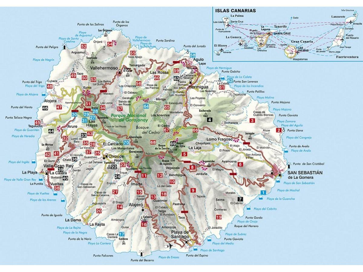 Kop La Gomera Rother Walking Guide Med Snabb Leverans Kartbutiken Se