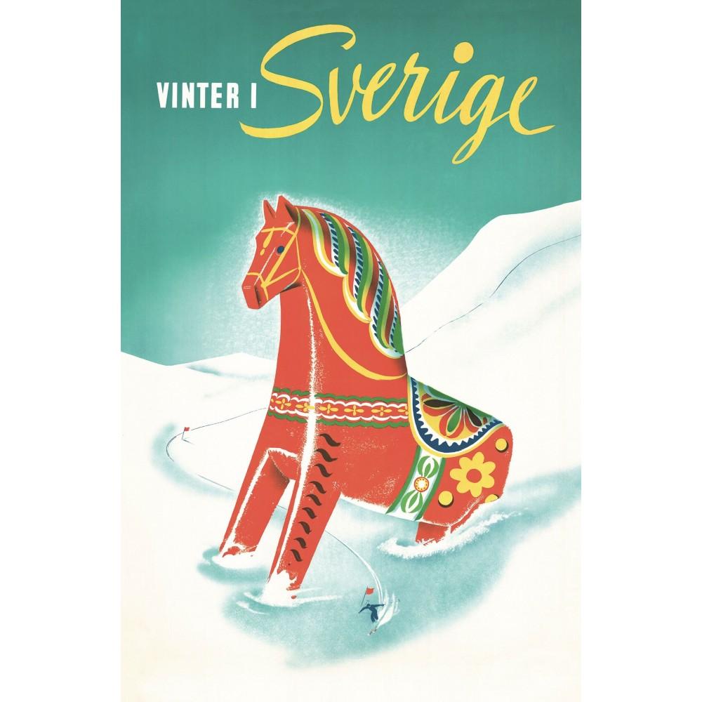 Vykort Vinter i Sverige
